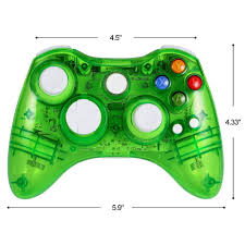 Xbox 360 4 Green Lights Wireless Game Controller For Microsoft Xbox 360 Console Pc