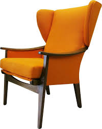 parker knoll vintage orange wingback armchair the kairos sofltt001ora uk