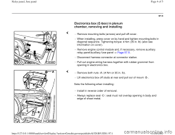 audi a4 1998 b5 1 g relay panel fuse panel workshop manual