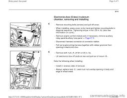 audi a4 1996 b5 1 g relay panel fuse panel workshop manual