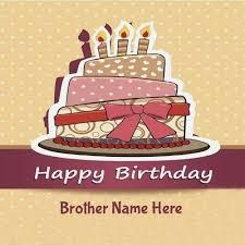 Birthday Cake For Brother With Name Photo Birthdaycakeformancf