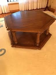 hexagon shaped coffee table