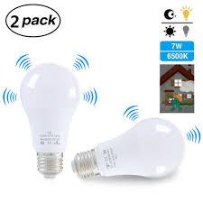 Light Bulb Outlet Bulb Energy Saving Lamp Garden Balcony Outlet 2pcs E27 Led Light Bulb With Motion Sensor Smart Light Radar Sensor 7w Sensor