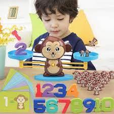 Đồ chơi toán học cho trẻ em chuẩn bị vào lớp 1 - Bộ dụng cụ khỉ cân bằng  toán học giúp bé làm quen với môn toán chính hãng 139,886đ