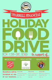 Food Drive Posters 1st Annual Ofarrell Financial Holiday Food Drive Kicks Off
