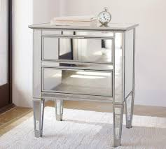 mirrored bedside table. park mirrored 2-drawer bedside table c