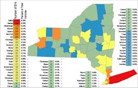 Nys Dmv Points Chart Electric Vehicle Registrations By County Based On Nys Dmv