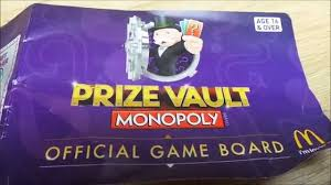 swap here latest official game board for uk mcdonalds monopoly prize vault 2016 you
