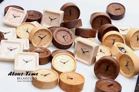 beladesign wood desk unique design bedroom alarm clock with alarm function wall clock modern design