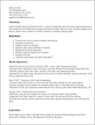1 Cleaning Supervisor Resume Templates Try Them Now Myperfectresume