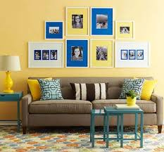 inviting yellow and blue living room image source bhg bhg living rooms yellow