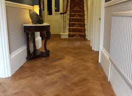 herringbone parquet entry