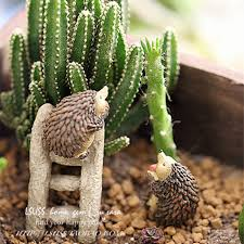 Small Picture Aliexpresscom Buy Cute Resin Hedgehog Home Decoration