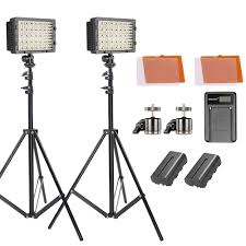 Cn 160 Led Video Light Battery Details About Neewer 2 Pack 160 Led Video Light Dimmable Lighting Kit With 75 Inch Light Stand