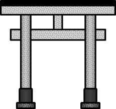 いろいろな形状の鳥居のイラスト イラストカットcom