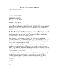 Sample Letter Of Recommendation For High School Student From Teacher Pdf Sample Recommendation Letter District School Letterhead