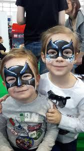 Face Painting Superheroes Design Facepainting Superhero Batman Batman Face Paint Face