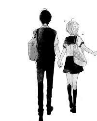 anime couple holding hands tumblr. Interesting Couple Hold Hands Anime Couple Black And White Girl Manga Manga Cap Tumblr In Anime Couple Holding Hands Tumblr