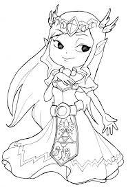 Coloriage Princesse Zelda Gratuit Imprimer Sur Coloriages Info