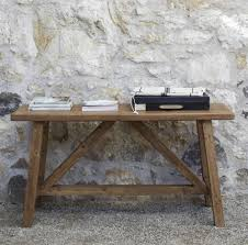 cheap reclaimed wood furniture. Delighful Wood Furniture Outdoor Small Console Table Made From Reclaimed Wood For Rustic  House Design With Exposed Stone Wall Exterior Ideas Tables Aluminum Patio Closeout  In Cheap