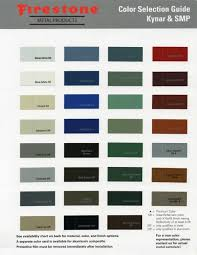 Firestone Metal Products Color Chart Firestone Metal Products Color Chart Viking Metal Products