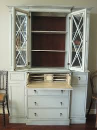 painted secretary desk with hutch european paint finishes in tall secretary desk with hutch