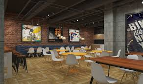 Industrial Style Lunch Bar Or Kitchen In The Office Building 3d Model