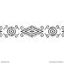 navajo border designs. Tribal African Southwest Navajo Pattern - Border Designs Geometric Custom Stencils For Decorating