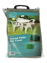 small round patio set cover green