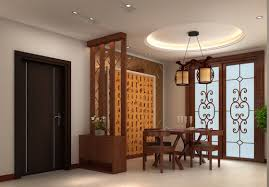Dining Room Set And Living Room Partition Wall Designs With Chandelier Also  French Doors And Tile Flooring