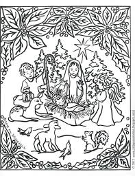 Christmas Nativity Coloring Pages Printable Creativeinfotechinfo