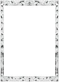 free printable coloring borders clip art frame border freebie ii picture frames templates a