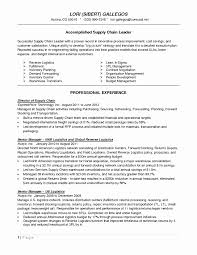 Warehouse Resume Supply Chain Cover Letter Fresh Cover Letter Logistics Resume 94