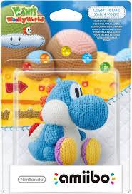 World Of Light Yarn Yoshi Light Blue Yarn Yoshi Amiibo Nintendo Wii U