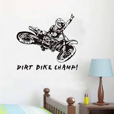 Dirt Bike Quotes Amazing Funny Quotes Dirt Bike Champ Motorcycle Rider Wall Stickers Creative