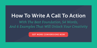 how to write a call to action words examples