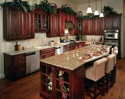 kitchen ideas cherry cabinets. Cherry Mahogany Kitchen Cabinets Of Kitchens With Yellow Painting Ideas Copper Farmhouse