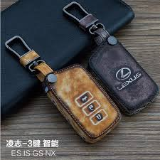 leather car keychain key fob case cover for lexus