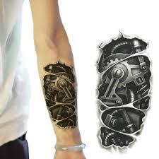 3d Model Strojů Arm Nepromokavý Dočasný Přenos Tetování Samolepky