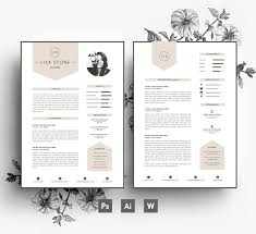 Modern Template Business Carcv Templatecover Lettereditable Psdword Filefonts Included Instant Digital Downloadcreative Resume