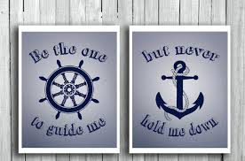 navy blue anchor wall decor