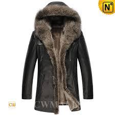 shearling sheepskin coat fur hood cw877158 cwmalls com