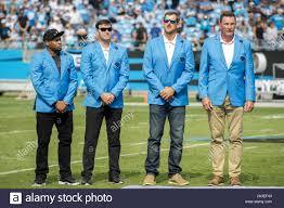 Charlotte, North Carolina, USA. 6th Oct, 2019. Ex-Carolina Panthers players  Steve Smith Sr., Jake Delhomme,