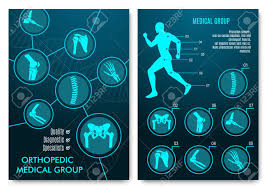 Medical Infographic With Orthopedic Anatomy Charts Human Silhouette