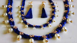 Jewelry Designs Diy How To Make Pearl Beaded Necklace At Home Diy Jewellery Designs 2018 Jewellery Making