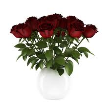 free 3d red roses cgaxis 3d models
