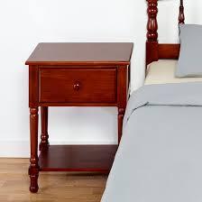 cherry wood nightstand. Traditional Style Wood Nightstand In Cherry Finish I