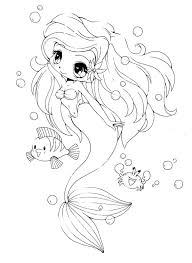 cute coloring pages for girls. Exellent Coloring Creative Cute Chibi Coloring Pages D3867 Page  Little Mermaid And Her Friends Minimalist  Throughout For Girls I