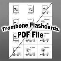 Trombone Finger Chart Pdf Trombone Slide Position Chart Pdf Trombone Fingering