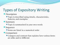 english expository writing  3 types of expository